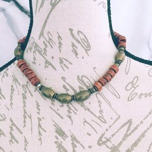 Brown and Bronze Handmade Choker Heavy